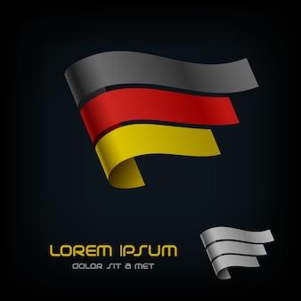 Flagge von deutschland, band-logo.