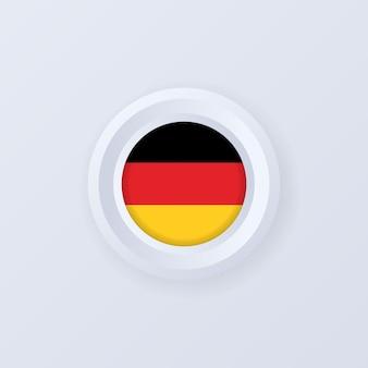 Flagge von deutschland. deutschland-taste. deutschland-label, schild, schaltfläche, abzeichen. deutsche flagge.