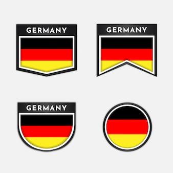 Flagge von deutschland mit emblemabzeichen