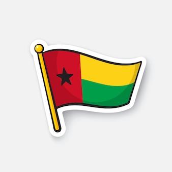 Flagge von guinea-bissau-ländern in afrika standortsymbol für reisende vektorillustration