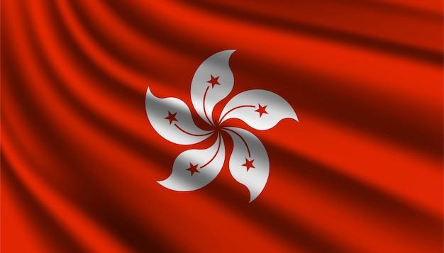 Flagge von hong kong hintergrundschablone.