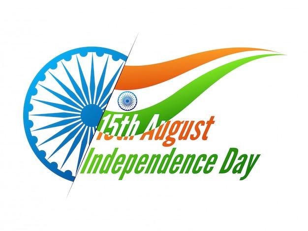 Flagge von indien mit ashok chakra für unabhängigkeitstag