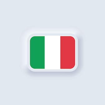 Flagge von italien. nationale italien flagge. italienisches symbol neumorphic ui ux