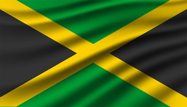 Flagge von jamaika hintergrund.