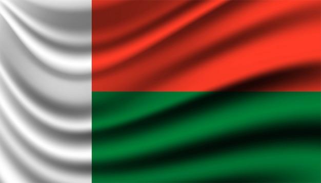 Flagge von madagaskar hintergrundschablone.