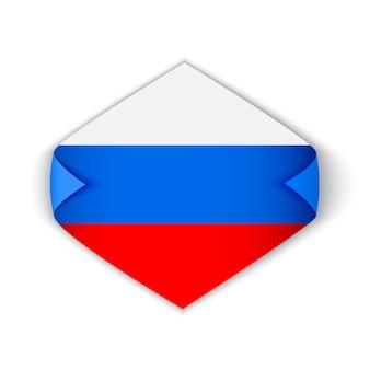 Flagge von russland. aufkleber.