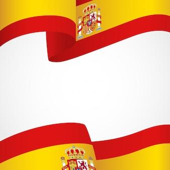 Flagge von spanien auf weiß