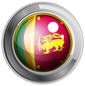 Flagge von srilanka auf rundem abzeichen