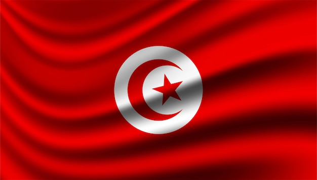 Flagge von tunesien hintergrundschablone.