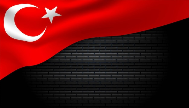 Flagge von turki-hintergrund.