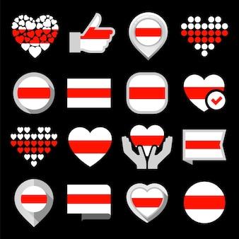 Flaggen der republik belarus