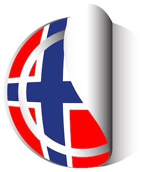 Flaggen-icon-design für norwegen