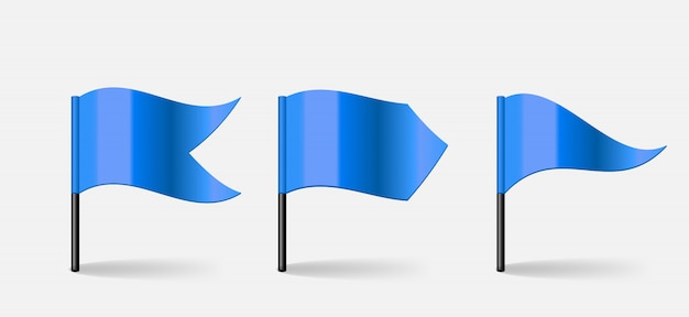Flaggen illustrationssatz