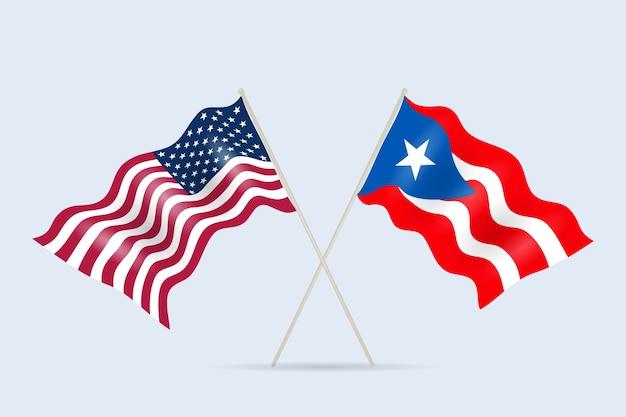 Flaggen puerto rico und usa beziehung.