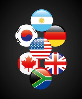 Flaggen von Ländern