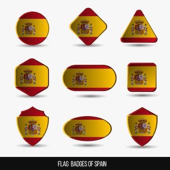 Flaggenabzeichen von spanien