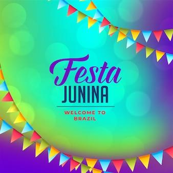 Flaggendekoration für festa junina hintergrund