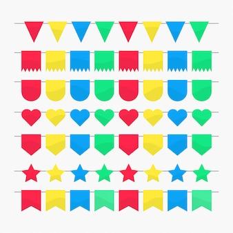 Flaggendekoration für party