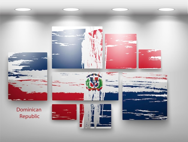 Flaggenfarbe in der galerie. vektor-illustration