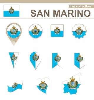 Flaggenkollektion von san marino, 12 versionen