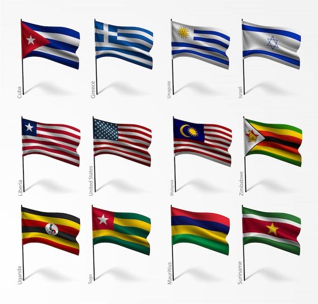 Flaggensatz aller länder