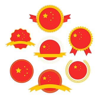 Flaggenserie der welt, flagge von china,