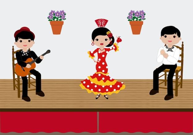Flamenco tablao spanien