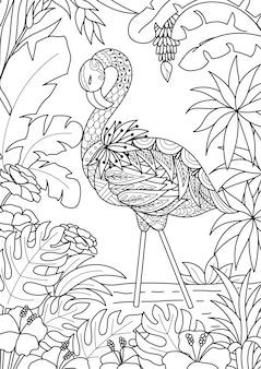 Flamingo hintergrund design