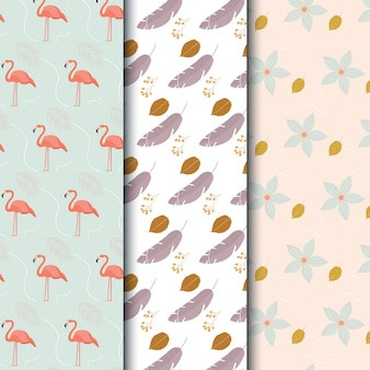 Flamingo muster design
