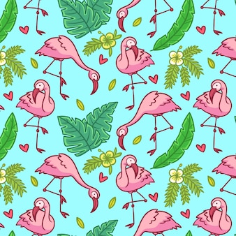Flamingo-musterdesign