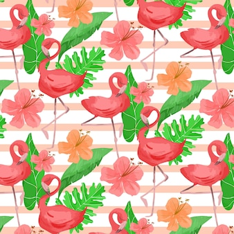Flamingo-musterkonzept