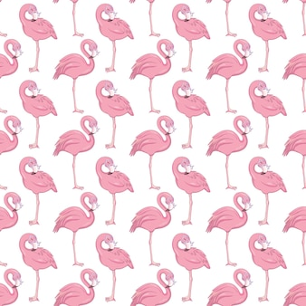 Flamingo nahtloses muster.