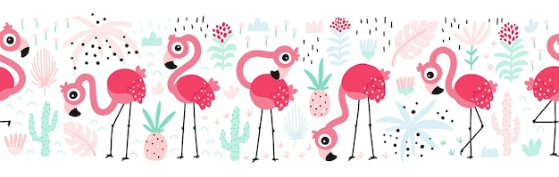 Flamingo nahtloses muster