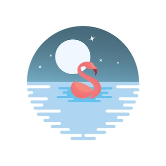 Flamingo-ozean-abbildung