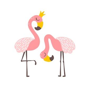 Flamingo-prinzessin mit krone