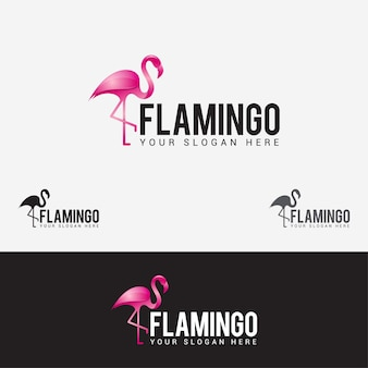 Flamingo-vogel-logo