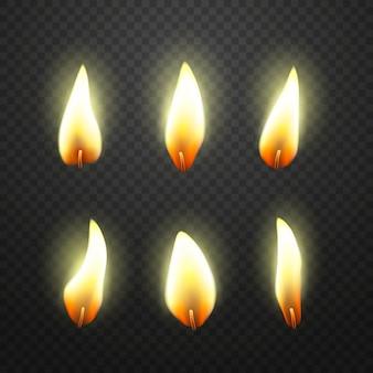 Flamme der kerzen packen