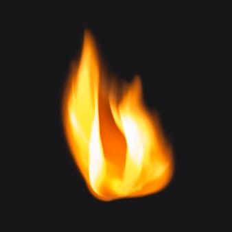 Flammenaufkleber, realistischer fackelfeuerbildvektor
