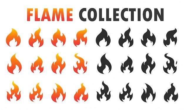 Flammenikone, die für würziges lebensmittel brennt.
