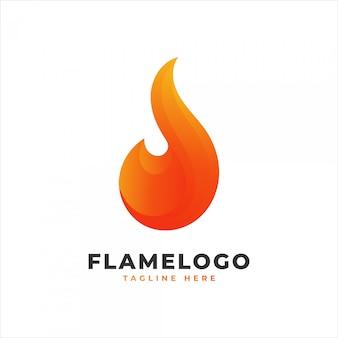 Flammenlogo mit orangefarbenem farbverlauf