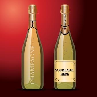 Flasche für champagner