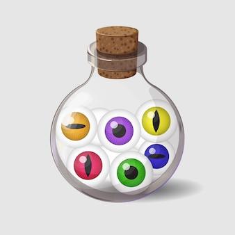 Flasche mit augen
