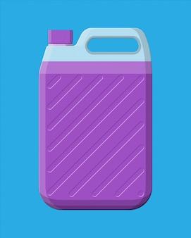 Flasche mit flüssigwaschmittel. kanisterreiniger