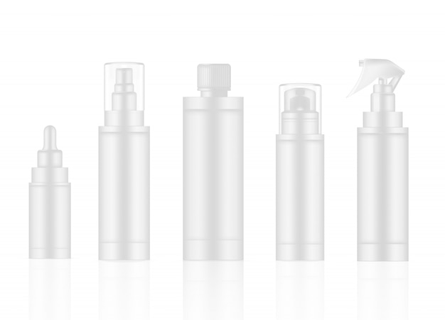 Flasche weiß realistic skincare product spray