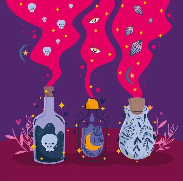 Flaschen mit elixiergift
