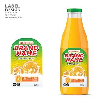 Flaschenetikett paketvorlagendesign