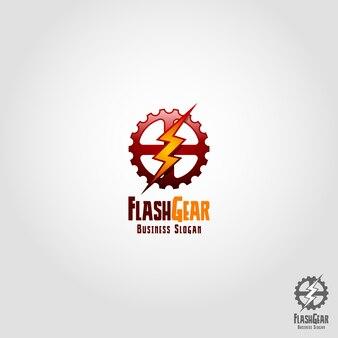 Flash-ausrüstung logo vorlage