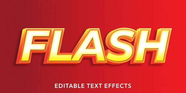 Flash bearbeitbare texteffekte