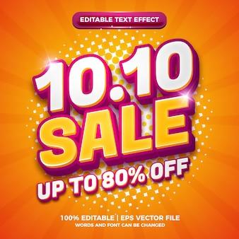 Flash big sale 10 10 banner-logo-business-einzelhandelsförderung mit modernem bearbeitbarem texteffekt