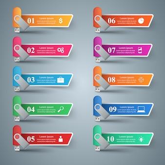 Flash color usb - geschäft infografik.